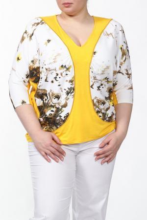 Джемпер EVA Collection. Цвет: желтый