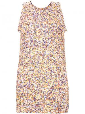 Вязаное платье без рукавов Spencer Vladimir. Цвет: многоцветный