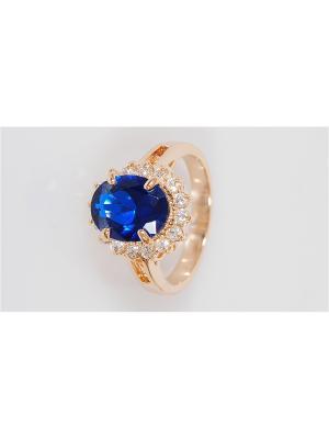 Кольцо Lotus Jewelry. Цвет: золотистый, темно-синий