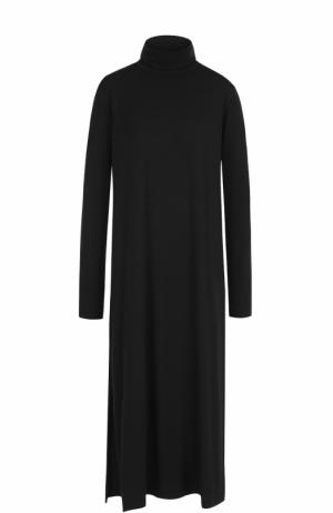 Платье свободного кроя с воротником-стойкой Y-3. Цвет: черный