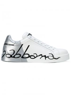 Кеды Logo Portofino Dolce & Gabbana. Цвет: белый