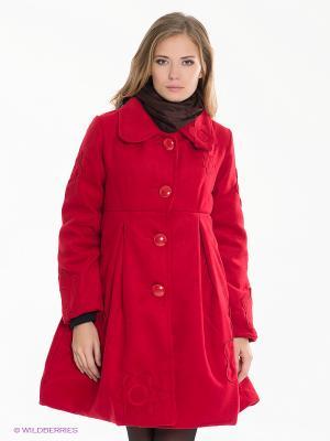 Пальто Coline. Цвет: красный