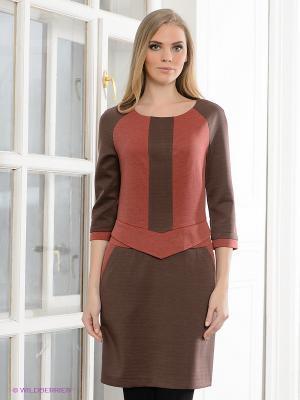 Платье Capriz. Цвет: коричневый, коралловый