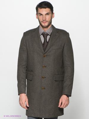 Пальто Al Franco. Цвет: темно-серый, хаки