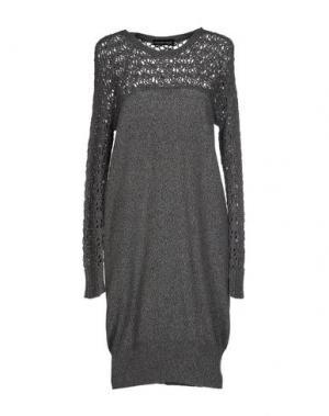 Короткое платье DANIELA DREI. Цвет: серый