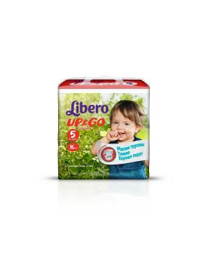 Libero Трусы детские одноразовые Up&Go макси плюс 10-14кг 16шт упаковка маленькая. Цвет: зеленый