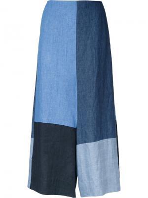Укороченные брюки дизайна колор-блок Demoo Parkchoonmoo. Цвет: синий