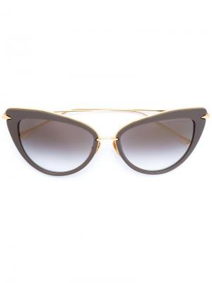 Солнцезащитные очки Heart Breaker Dita Eyewear. Цвет: серый