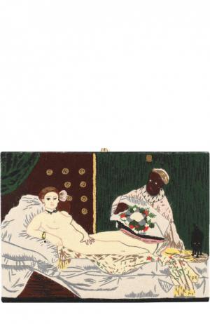 Клатч Olympia с вышивкой Le-Tan. Цвет: черный