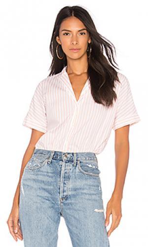 Рубашка на пуговицах Stateside. Цвет: розовый