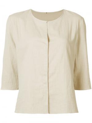 Рубашка без воротника Peter Cohen. Цвет: телесный