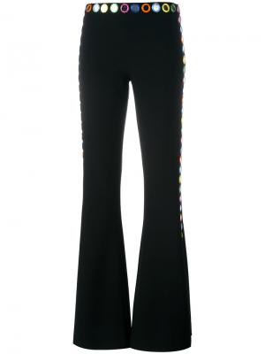 Декорированные расклешенные брюки Moschino. Цвет: чёрный