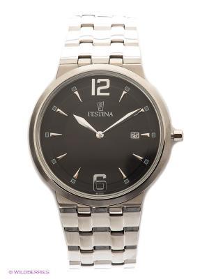 Часы ACERO MODA Festina. Цвет: серебристый