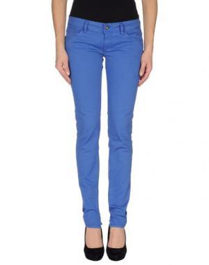 Повседневные брюки MELTIN POT. Цвет: синий