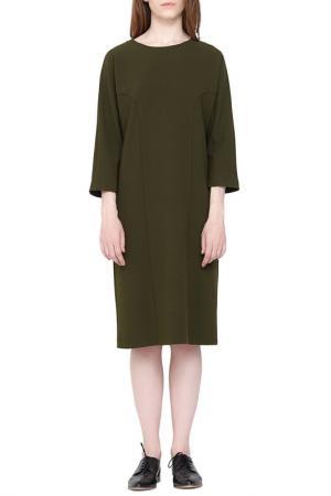 Платье Cyrille Gassiline. Цвет: хаки
