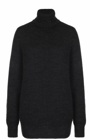 Удлиненный шерстяной свитер фактурной вязки Iro. Цвет: темно-серый