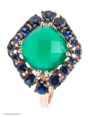Кольцо SOKOLOV. Цвет: золотистый, синий, зеленый