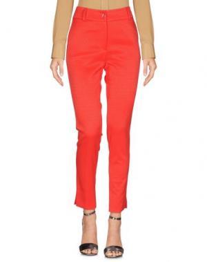 Повседневные брюки MOUCHE. Цвет: красный