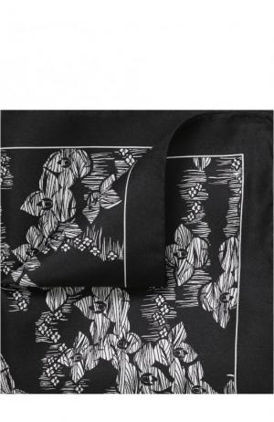 Шелковый платок Dolce & Gabbana. Цвет: черный
