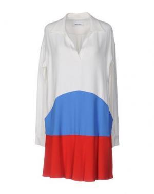 Короткое платье MAURO GRIFONI. Цвет: белый