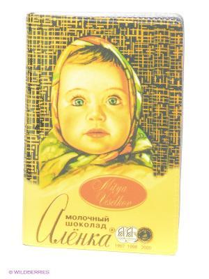 Визитница Шоколадка Алёнка Mitya Veselkov. Цвет: желтый, коричневый, красный
