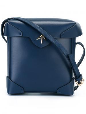 Мини-сумка Pristine Manu Atelier. Цвет: синий