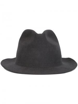 Шляпа-федора Super Duper Hats. Цвет: серый