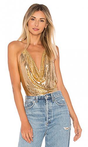 Топ ziggy Bardot. Цвет: металлический золотой