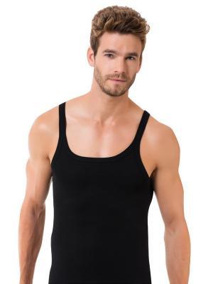 Майка мужская на широких бретелях Oztas underwear. Цвет: черный