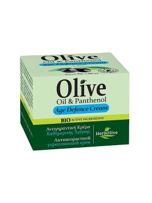 Герболив крем для лица антивозрастной укрепляющий с пантенолом, 50 мл Madis S.A.. Цвет: оливковый