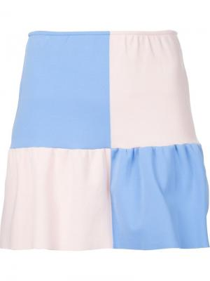 Мини-юбка с расклешенным подолом Arthur Arbesser. Цвет: синий