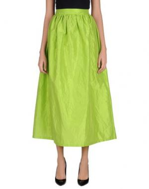 Длинная юбка ODI ET AMO. Цвет: кислотно-зеленый