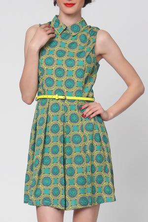 Платье Grazia. Цвет: зеленый