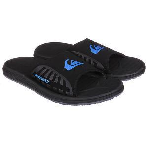 Шлепанцы  Triton Slide Black/Blue Quiksilver. Цвет: черный
