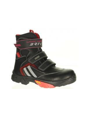 Ботинки Bartek. Цвет: черный,красный