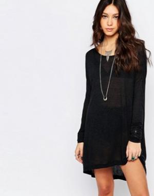 One Teaspoon Шерстяное платье с длинными рукавами Soho. Цвет: черный