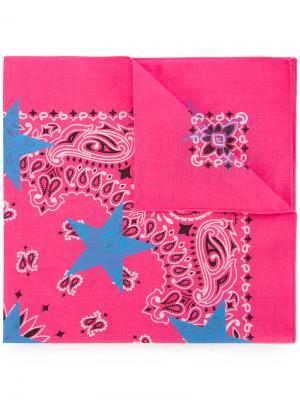 Платок с принтом Guild Prime. Цвет: розовый и фиолетовый