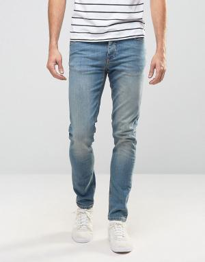 ASOS Голубые джинсы скинни из денима плотностью 12,5 унц. Цвет: синий
