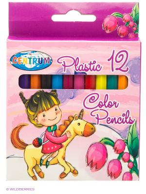 Цветные карандаши Единорог, 12 цветов, короткие Centrum. Цвет: розовый