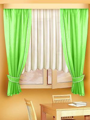 Комплект штор ZLATA KORUNKA. Цвет: салатовый