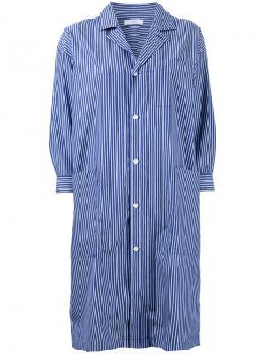 Полосатое платье-рубашка Astraet. Цвет: синий