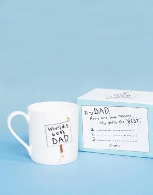 OHH DEER Кружка с надписью Worlds Best Dad. Цвет: мульти