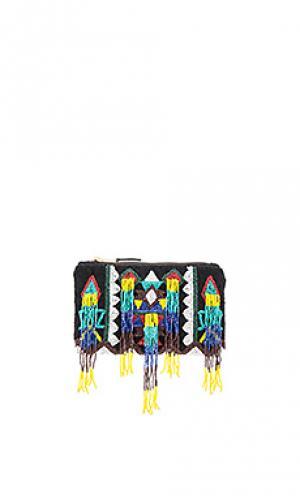Маленький бумажник symon Antik Batik. Цвет: синий
