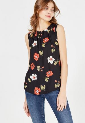 Блуза Marks & Spencer. Цвет: черный