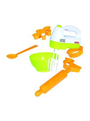Набор для выпекания Casdon (миксер, чаша, ложка, скалка, 3 формы в комплекте). Цвет: оранжевый