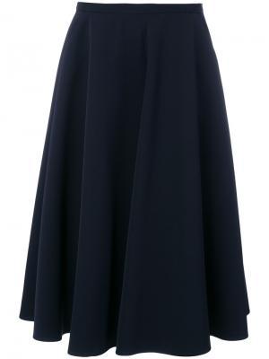 Плиссированная юбка-миди Aspesi. Цвет: синий