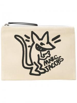 Stinky rat print clutch Marc Jacobs. Цвет: телесный