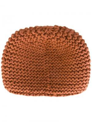 Вязаная шапка-бини Telfar. Цвет: коричневый