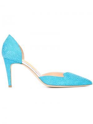 Текстурированные туфли-лодочки Rupert Sanderson. Цвет: синий