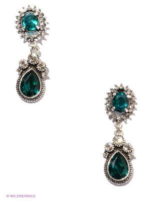 Серьги Art Silver. Цвет: зеленый, серебристый